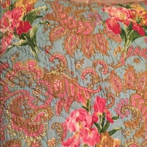 Pine Cone Hill floral colorful Euro sham covers
